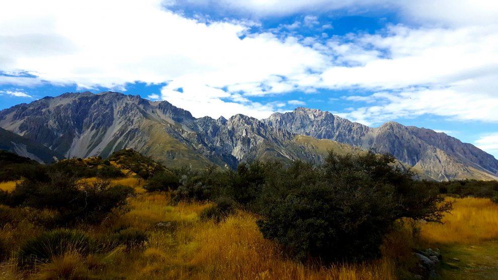 randonnée dans la région du mont cook